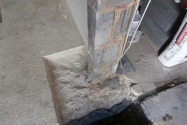 Failure of foundation system