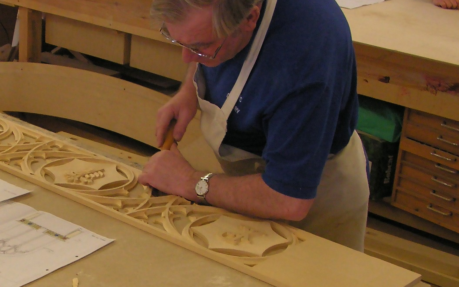 Traditional Handcarved joinery