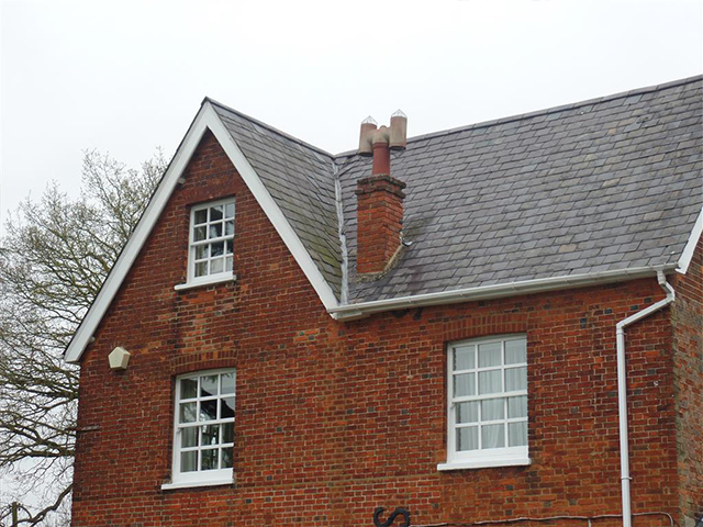 fixed roof slates - storm damage