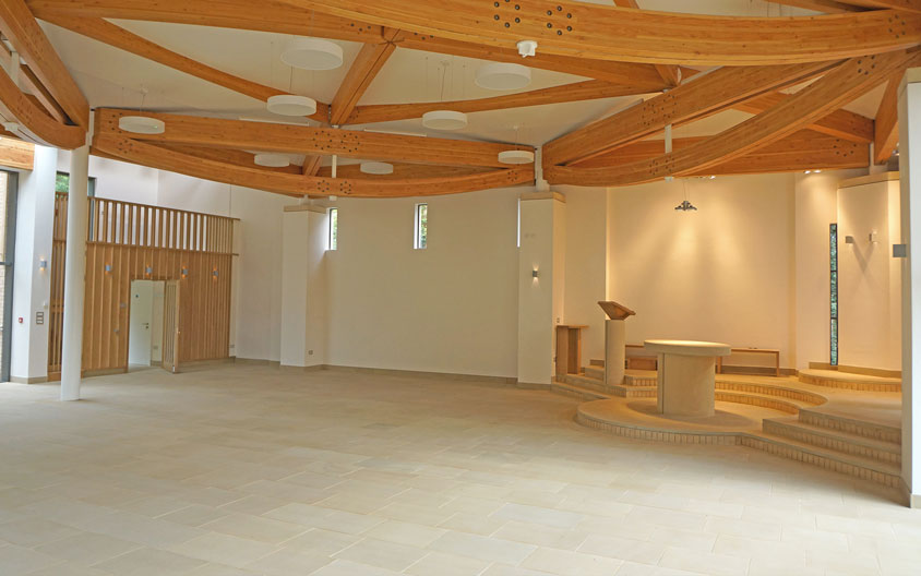 Liturgical furniture in Clipsham stone