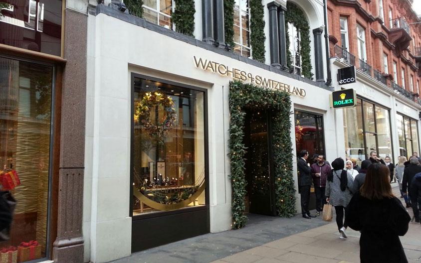 Portland stone granite shop front London