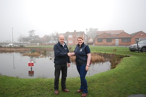 local community, Emma Ormond, Living Landscapes Coordinator for Essex Wildlife Trust and Antony Wood, Contracts Director for Bakers of Danbury Ltd