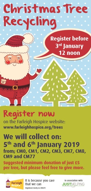 corporate social responsibility Farleigh Hospice Christmas Tree Recycling