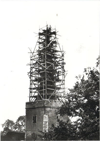 Church Spire restoration works 1922