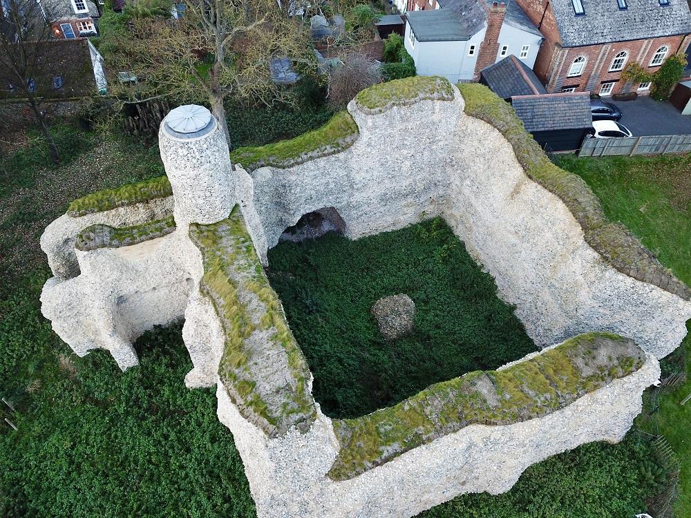 Saffron Walden Castle, Soft Capping to Roman Walls
