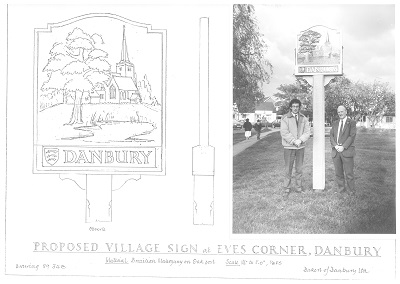 designed, hand carved, hand painted and restored village signs