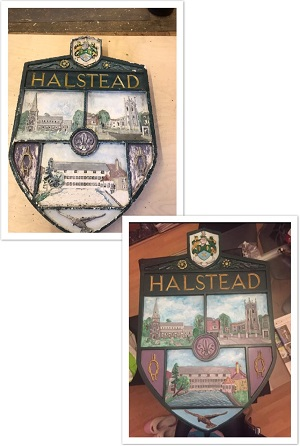 hand carved and restored village signs