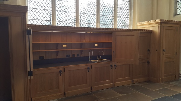 English Oak storage and WC area St Mary's Church, Saffron Walden
