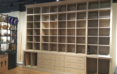 Shop display units handcrafted from MDF and Oak