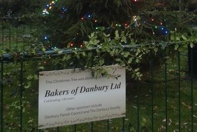 Bakers of Danbury Ltd donated a 20 foot Christmas Tree