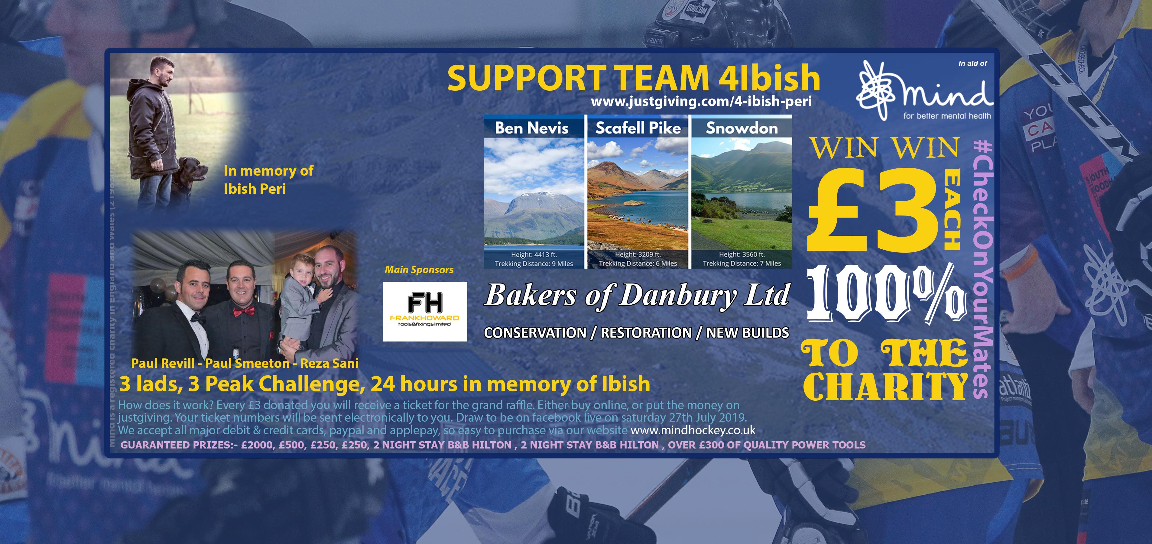 three peak challenge for MIND, Ben Nevis, Scafell Pike, Snowdon