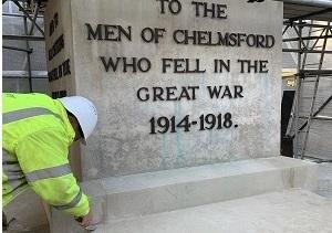 Chelmsford War Memorial restoration 2019