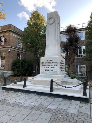 Chelmsford War Memorial restoration 2019 (after works)