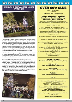 Danbury Focus - Christmas tree lights switch on