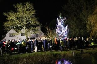 Danbury Focus - Christmas tree lights switch on crowd
