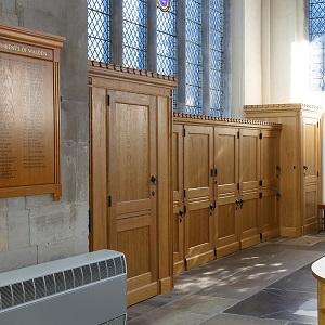 church re-ordering bespoke service facilities kitchenette servery facilities joinery workshop oak