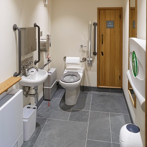 church re-ordering built in all person dementia friendly DDA wc toilet baby changing area soundproofing insulated soundproofing