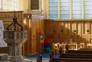church re-ordering essex specialist ecclecclesiastic joinery workshop bespoke built in storage cupboards english oak