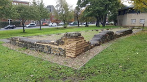 Restoration of Roman-era Church apsidal Remains