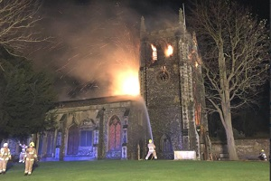 royston church restoration fire damage