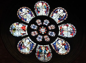 Conservation works to the east window of the Union Chapel in London