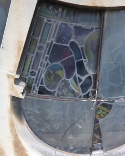 damage caused to stained glass window by secondary glazing glass