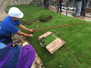 Saffron Walden Castle installation of Soft Capping Walls conservation