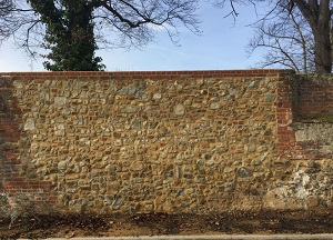 repair to flint and stone middle ages wall